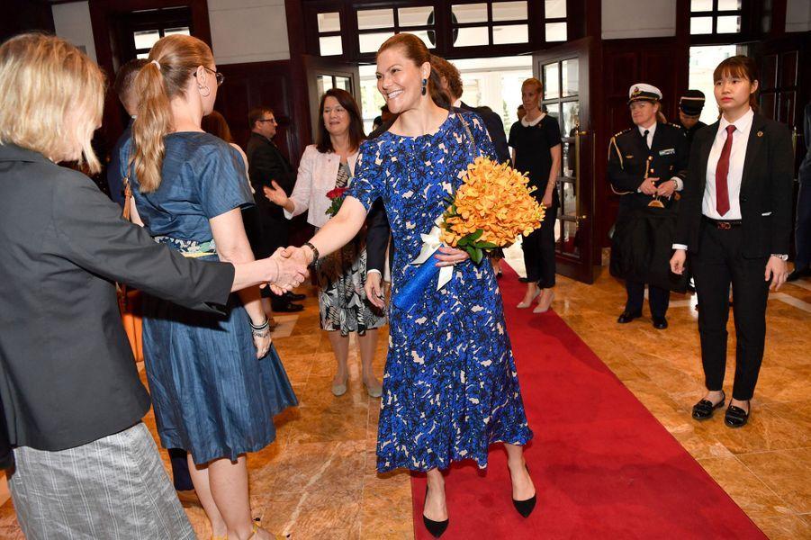 La princesse Victoria de Suède en visite officielle à Hanoi au Vietnam, le 6 mai 2019