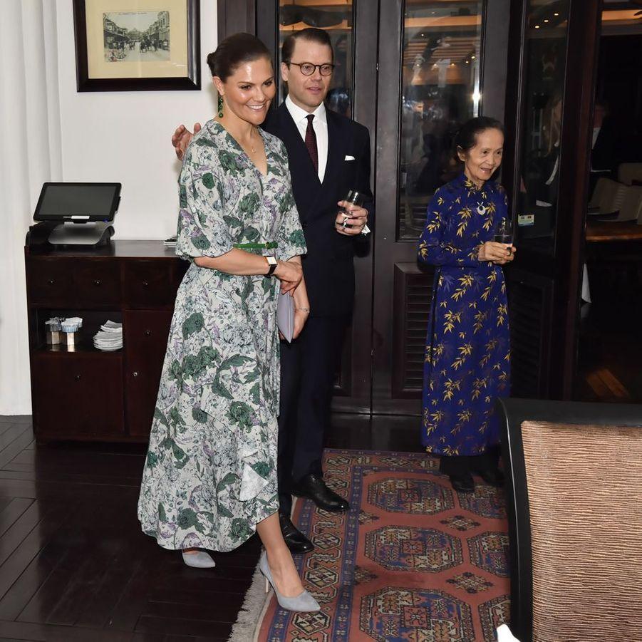 La princesse Victoria de Suède et le prince consort Daniel à Hanoi au Vietnam, le 6 mai 2019
