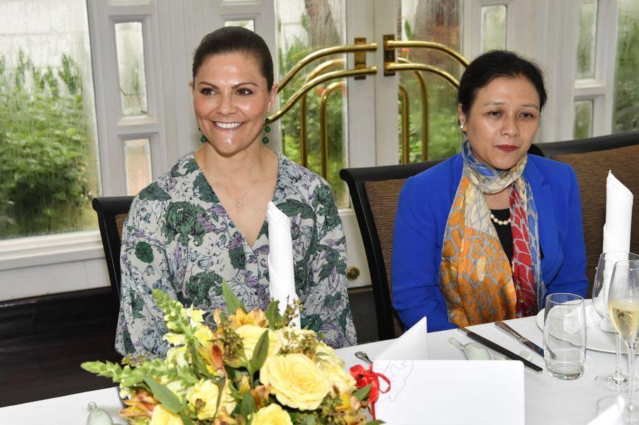La princesse héritière Victoria de Suède à Hanoi au Vietnam, le 6 mai 2019