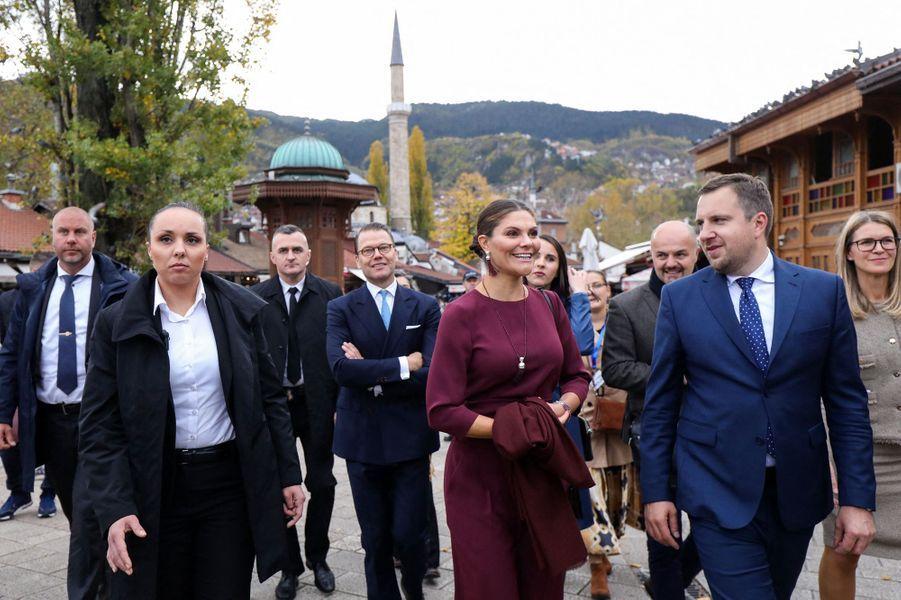 La princesse héritière Victoria et le prince Daniel de Suède en Bosnie-Herzégovine, le 6 novembre 2019