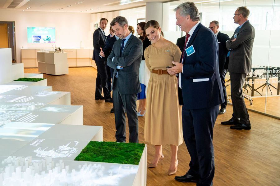 La princesse Victoria et le prince Daniel de Suède avec la princesse Mary et le prince Frederik de Danemark à Copenhague, le 18 septembre 2019
