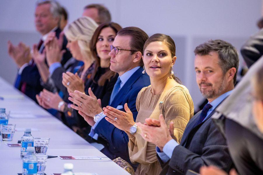 La princesse Victoria et le prince Daniel de Suède et la princesse Mary et le prince Frederik de Danemark à Copenhague, le 18 septembre 2019