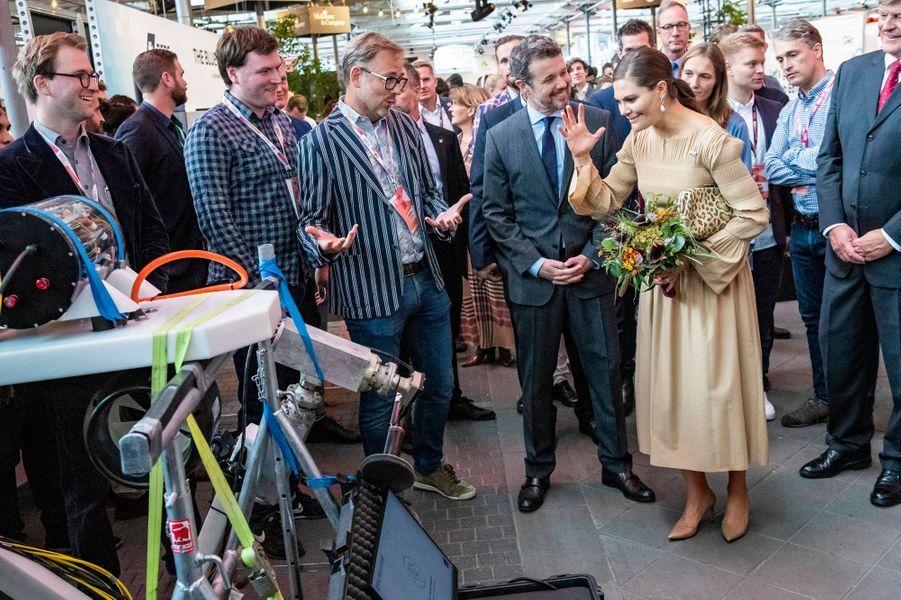 La princesse Victoria de Suède et le prince Frederik de Danemark à Copenhague, le 18 septembre 2019