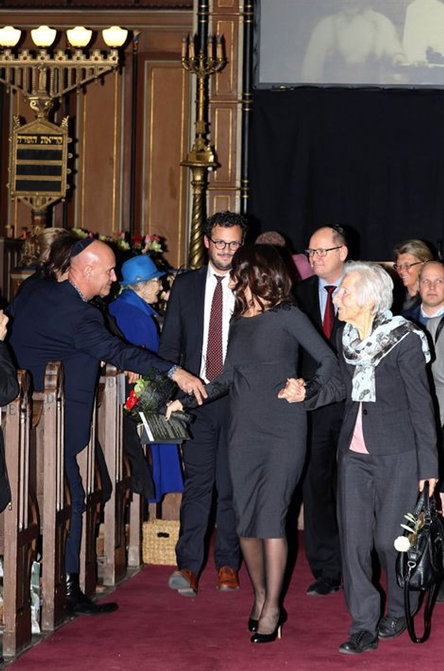 La princesse Sofia de Suède à la Grande Synangogue à Stockholm, le 27 janvier 2016