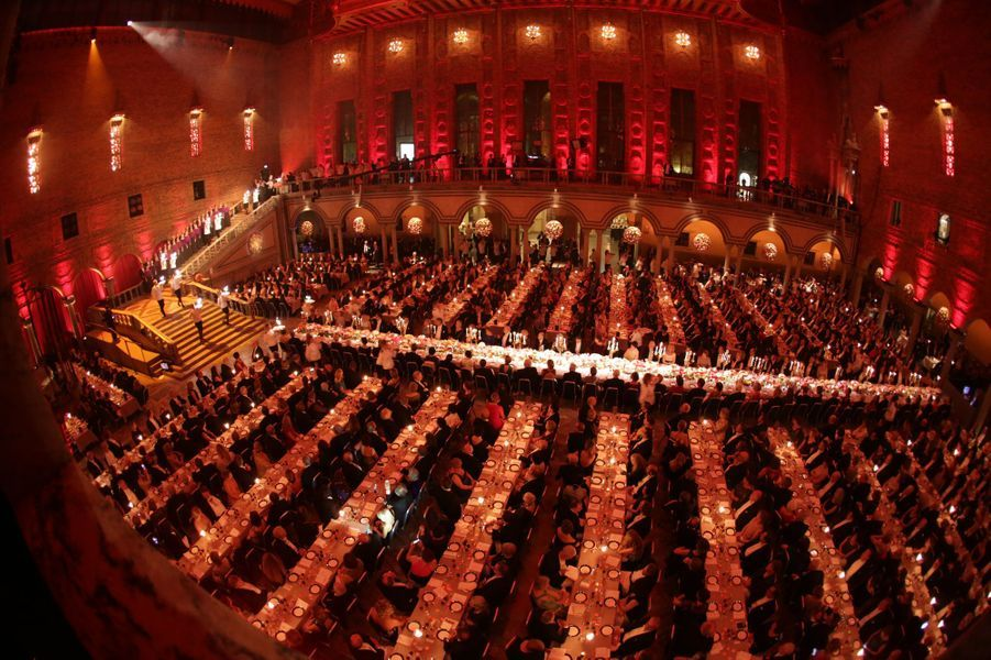 Le banquet des Nobel à Stockholm, le 10 décembre 2015