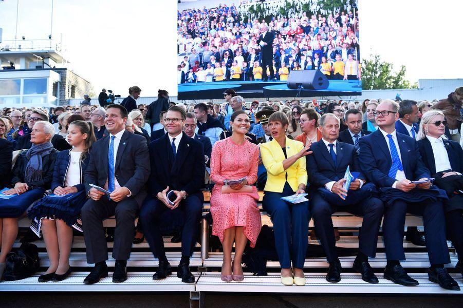 La princesse Victoria de Suède et le prince consort Daniel à Tallinn en Estonie, le 19 août 2018