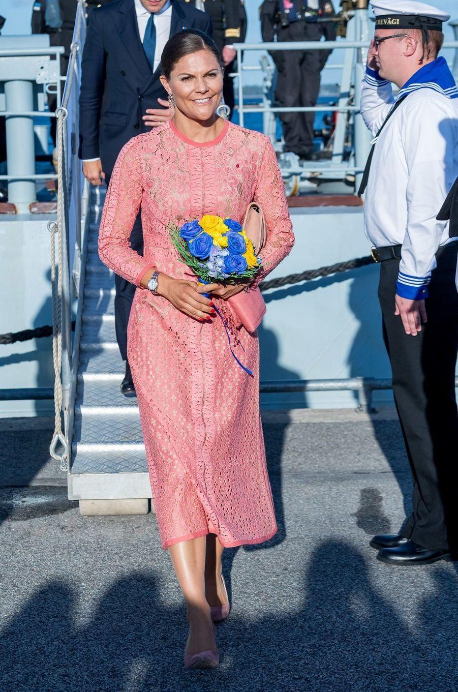 La princesse Victoria de Suède à Tallinn, le 19 août 2018