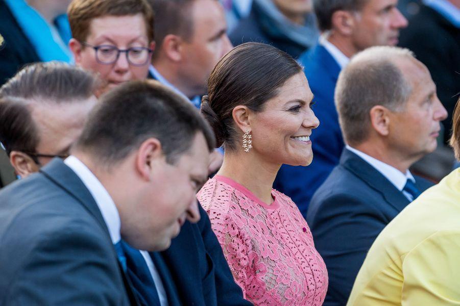 La princesse Victoria de Suède et le prince Daniel à Tallinn, le 19 août 2018
