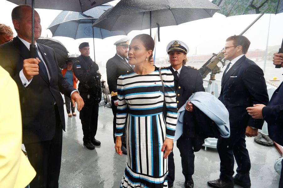 La princesse Victoria de Suède en Estonie, le 19 août 2018