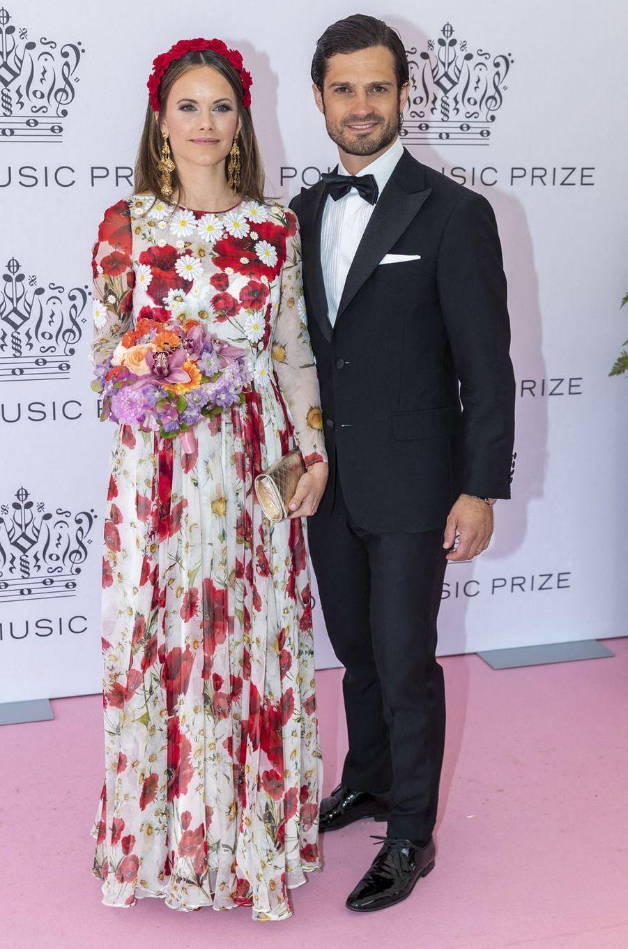 La princesse Sofia et le prince Carl Philip de Suède à Stockholm, le 11 juin 2019