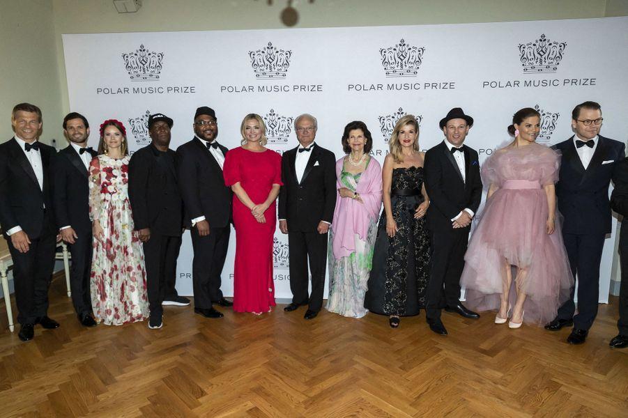 La famille royale de Suède et les lauréats du Polar Music Prize 2019 à Stockholm, le 11 juin 2019