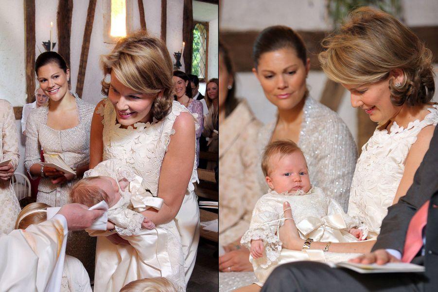 Baptême de la princesse Éléonore de Belgique, fille du roi Philippe et de la reine Mathilde.