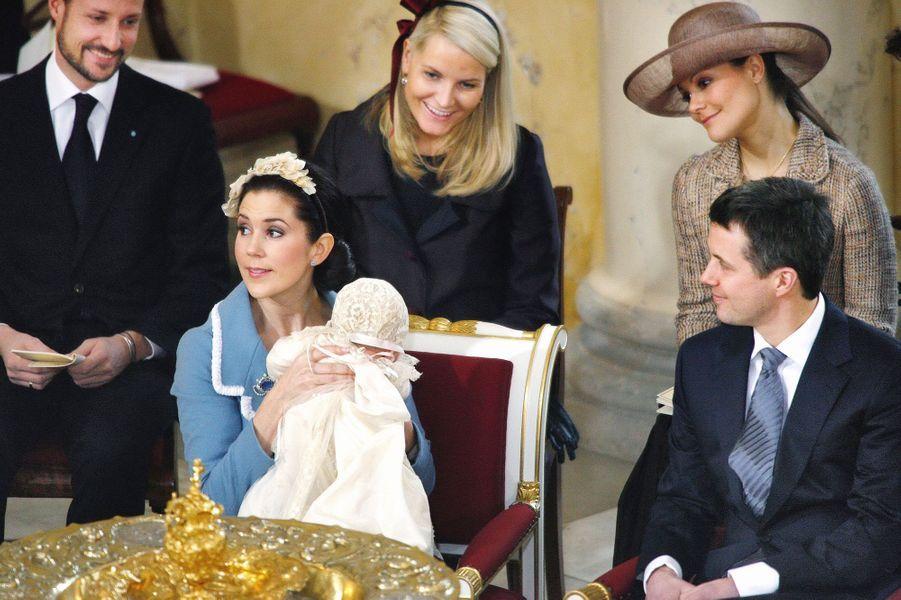 Baptême du prince Christian de Danemark, fils du prince héritier Frederik de Danemark et de la princesse Mary