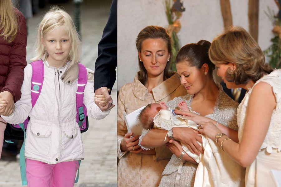 La princesse Éléonore de Belgique, fille du roi Philippe et de la reine Mathilde.