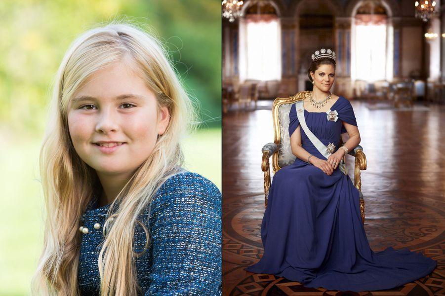 La princesse héritière Catharina-Amalia des Pays-Bas, fille du roi Willem-Alexander des Pays-Bas et de la reine Maxima