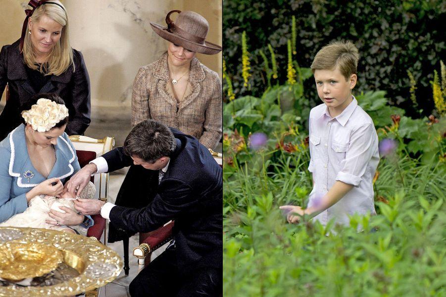Le prince Christian de Danemark, fils du prince héritier Frederik de Danemark et de la princesse Mary