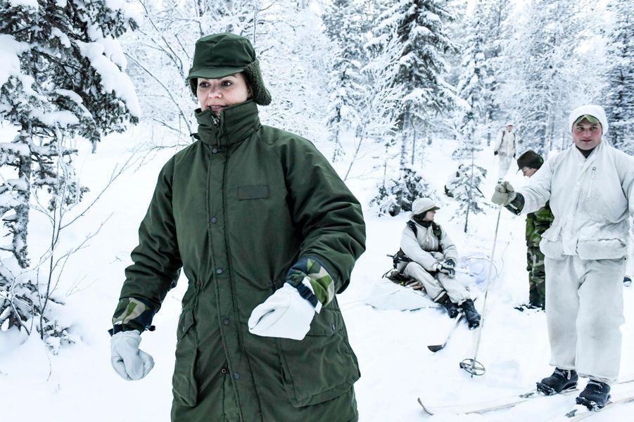 La princesse Victoria de Suède par -26°C à Arvidsjaur, le 23 janvier 2019