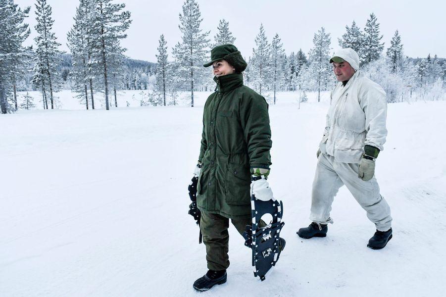 La princesse Victoria de Suède à Arvidsjaur, le 23 janvier 2019
