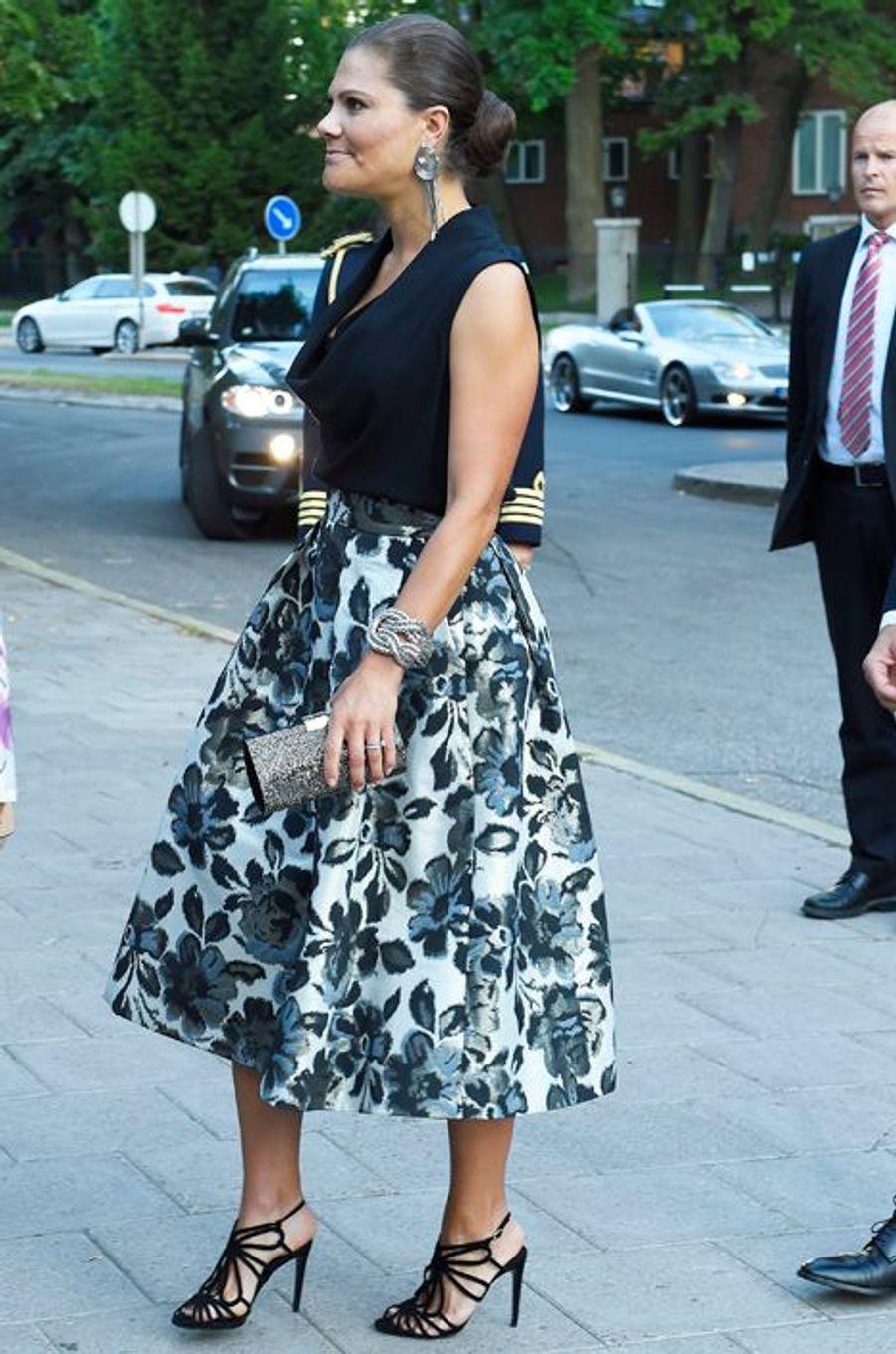 La princesse Victoria de Suède à Stockholm, le 21 août 2015