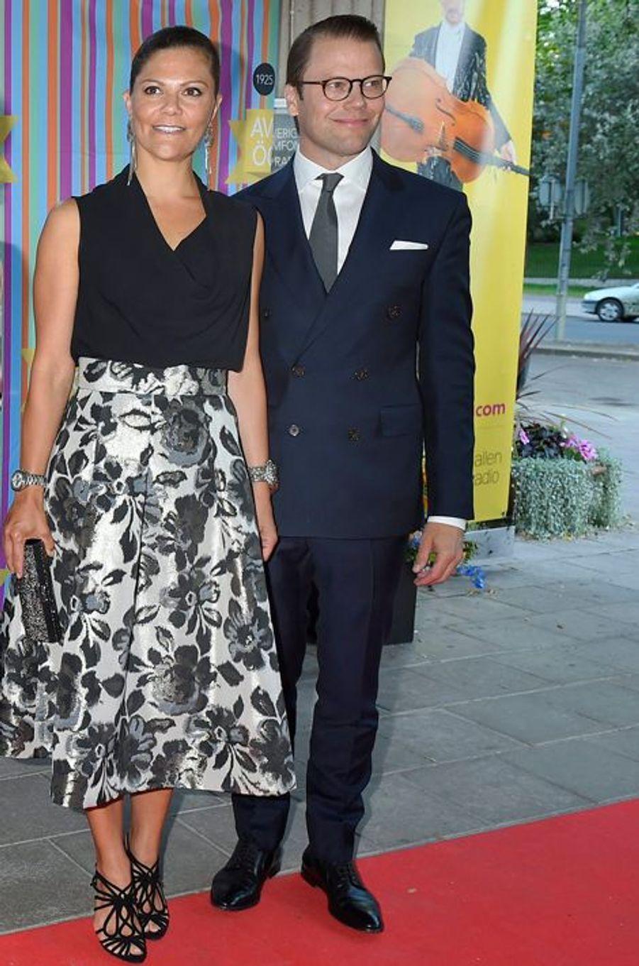 La princesse Victoria de Suède et le prince Daniel à Stockholm, le 21 août 2015
