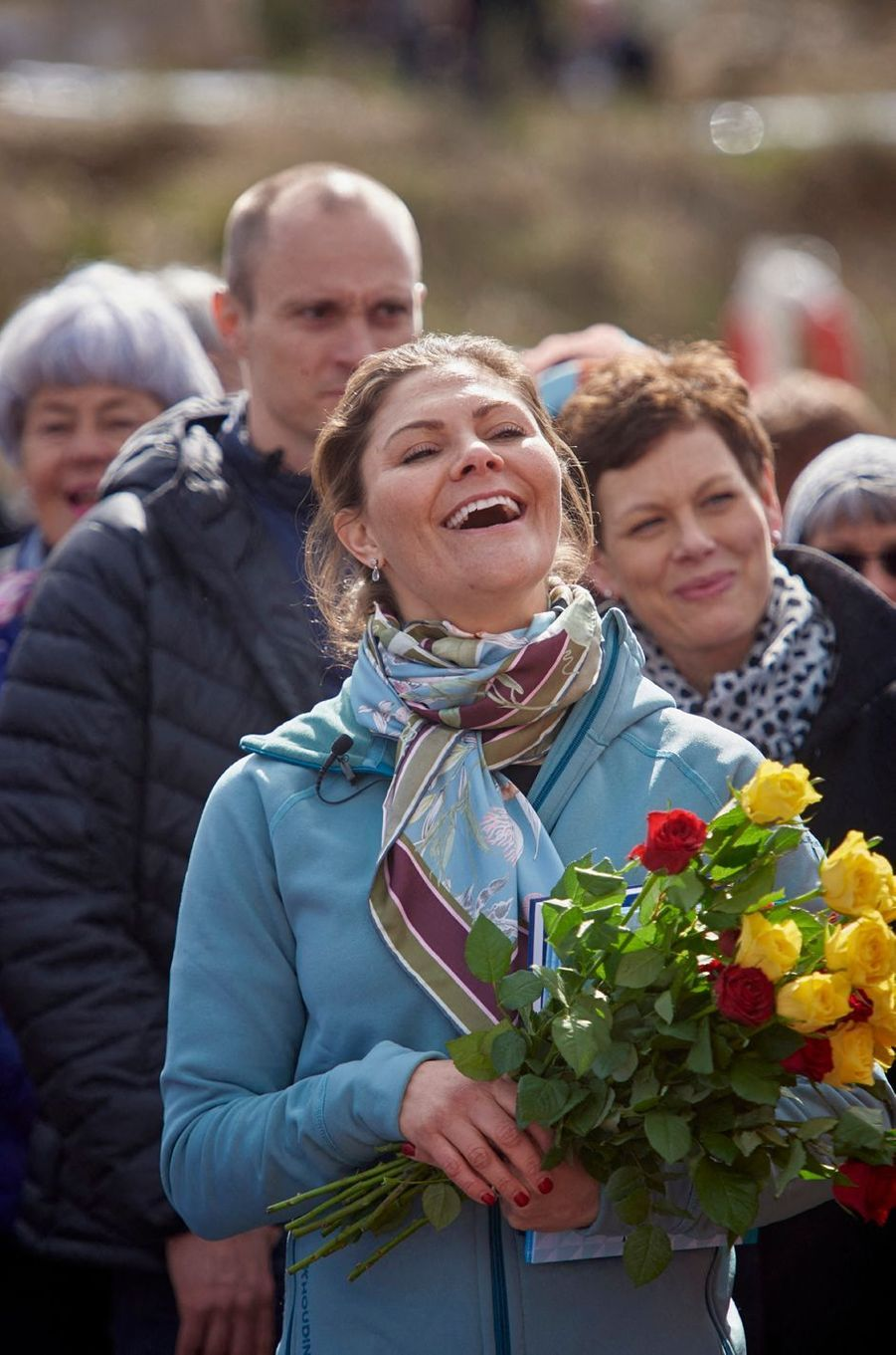 La princesse Victoria de Suède fait sa 19e randonnée dans le Halland, le 12 avril 2019