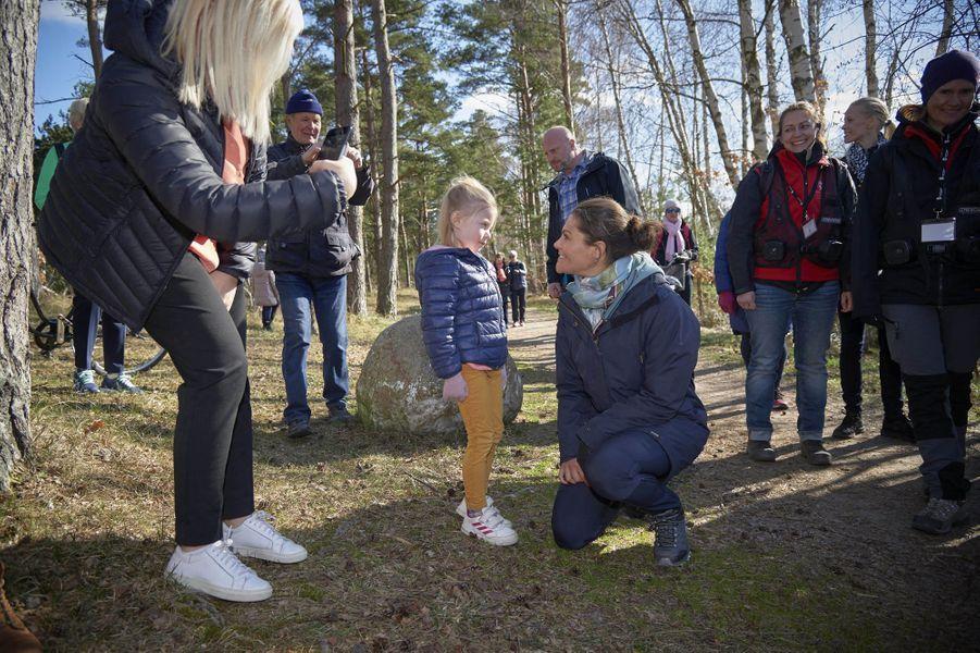 La princesse Victoria de Suède dans le Halland, le 12 avril 2019