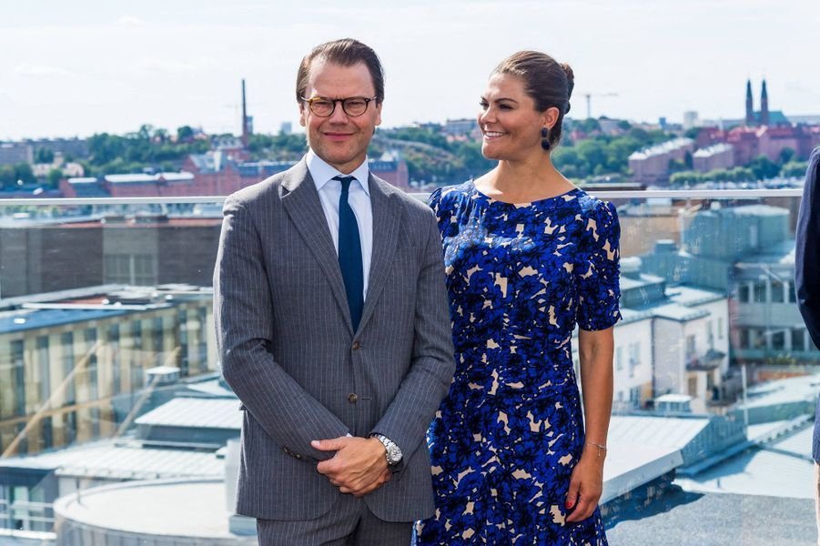 La princesse héritière Victoria de Suède et le prince consort Daniel à Stockholm, le 20 août 2020