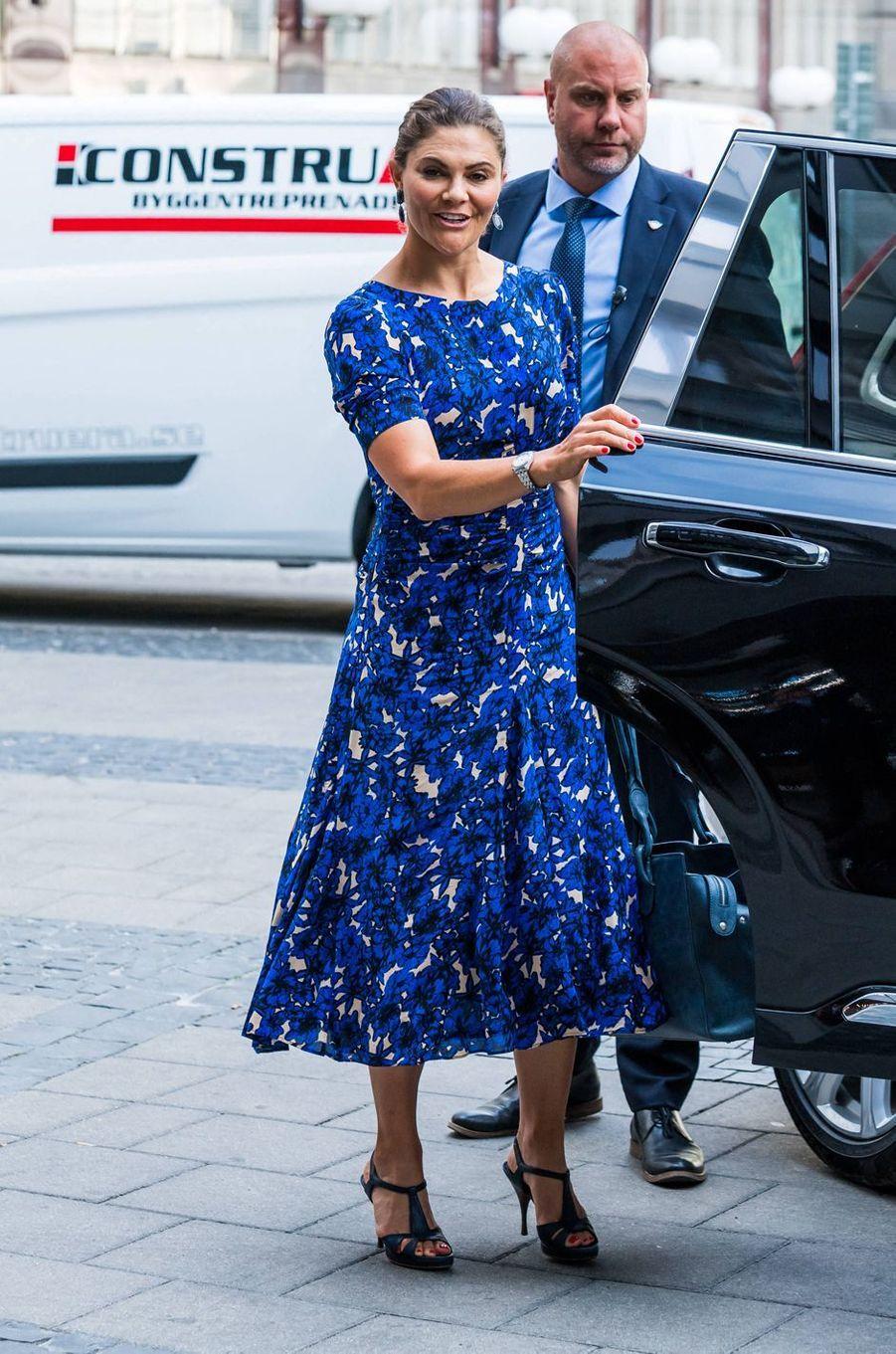 La princesse héritière Victoria de Suède à Stockholm, le 20 août 2020