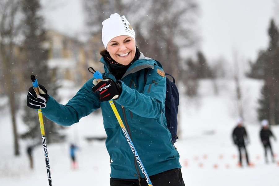 La princesse héritière Victoria de Suède à Kalix, le 20 mars 2019