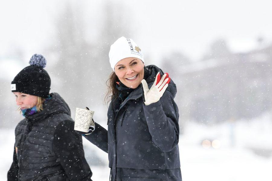 La princesse Victoria de Suède dans le Norrbotten, le 20 mars 2019