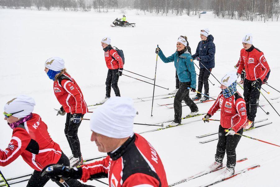 La princesse héritière Victoria de Suède à Kalix dans le Norrbotten, le 20 mars 2019