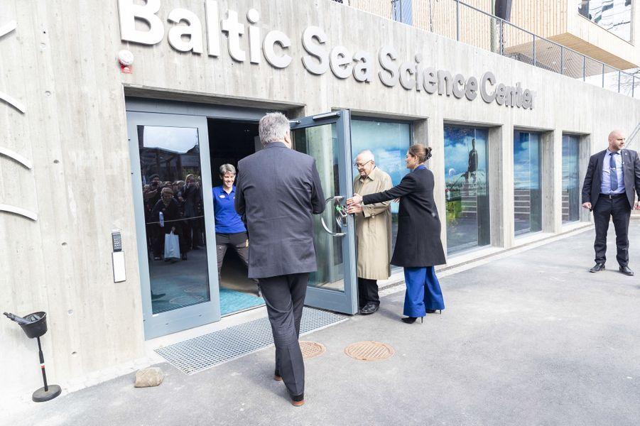 La princesse Victoria de Suède inaugure le Centre scientifique de la mer Baltique, à Stockholm le 11 avril 2019
