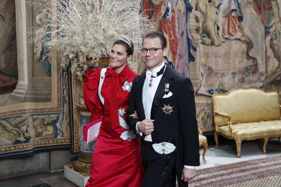 La princesse Victoria et le prince Daniel de Suède à Stockholm, le 11 décembre 2019