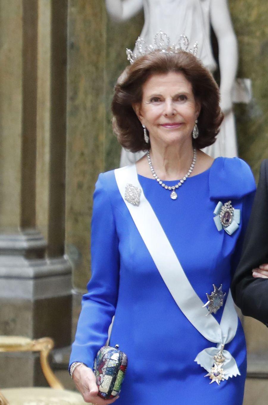 La reine Silvia de Suède à Stockholm, le 11 décembre 2019