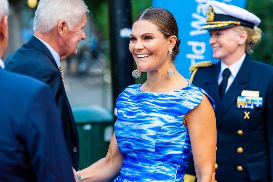 La princesse héritière Victoria de Suède à Stockholm, le 27 août 2019
