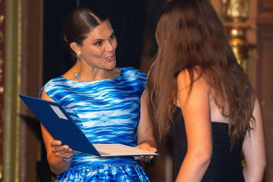 La princesse Victoria de Suède à Stockholm, le 27 août 2019