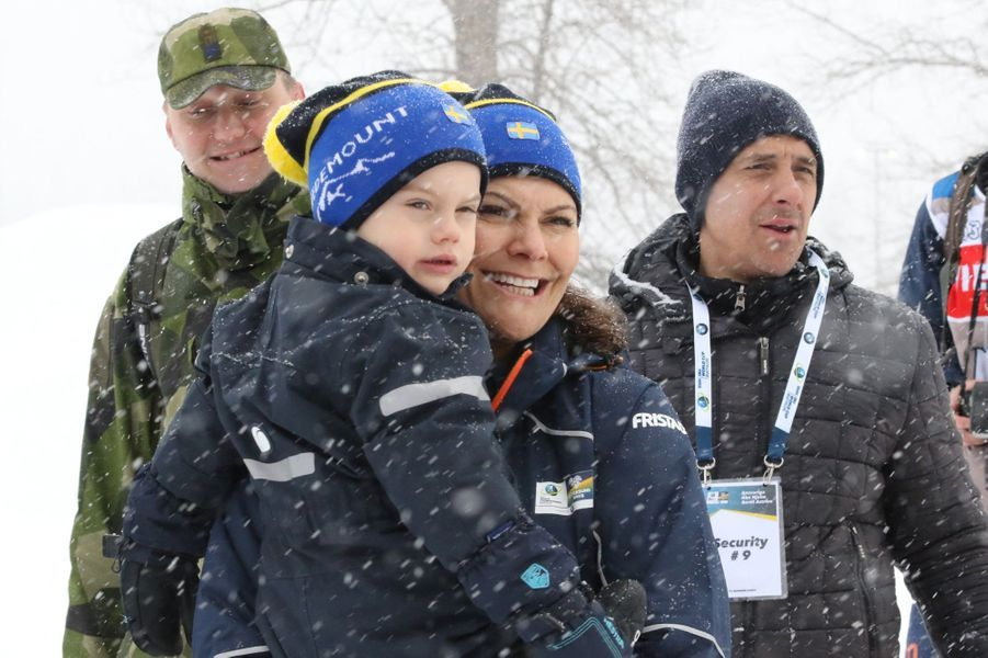 La princesse Victoria de Suède et le prince Oscar à Ostersund, le 17 mars 2019