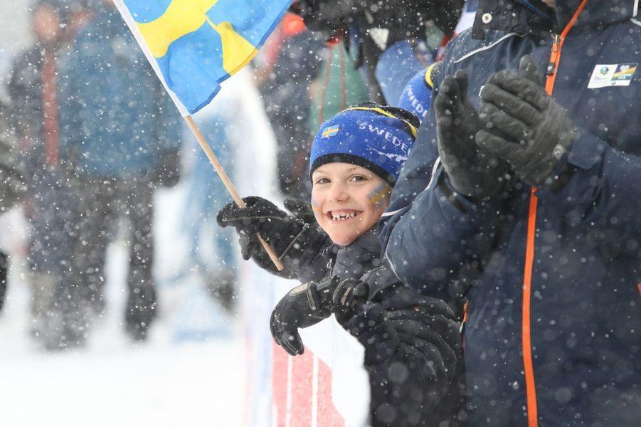 La princesse Estelle de Suède à Ostersund, le 17 mars 2019