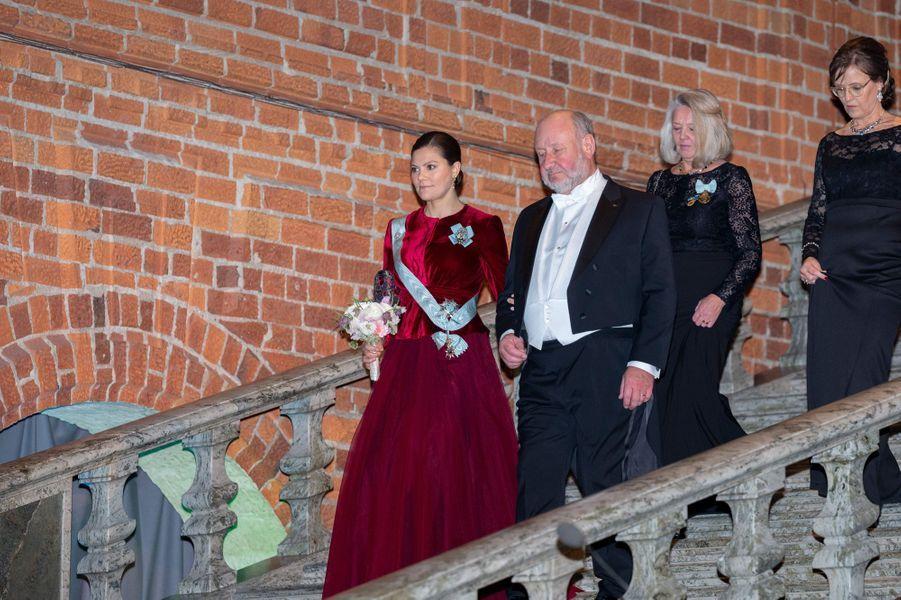 La princesse Victoria de Suède à l'Hôtel de ville de Stockholm, le 28 janvier 2019