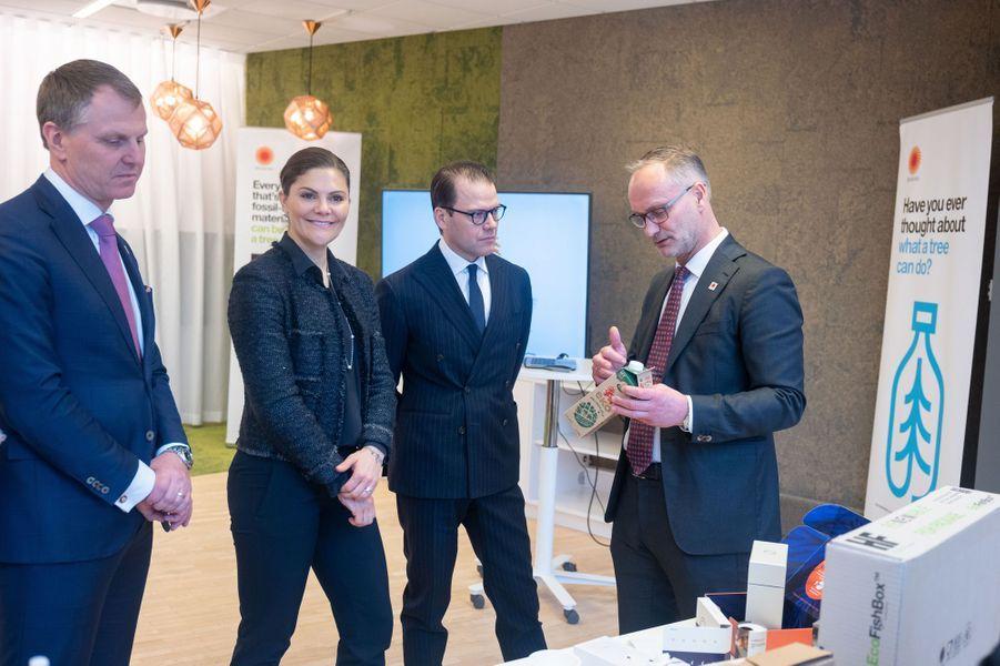 La princesse Victoria de Suède et le prince consort Daniel à Stockholm, le 29 janvier 2019
