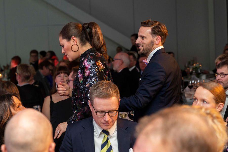 La coiffure de la princesse Victoria de Suède à Stockholm, le 3 février 2019