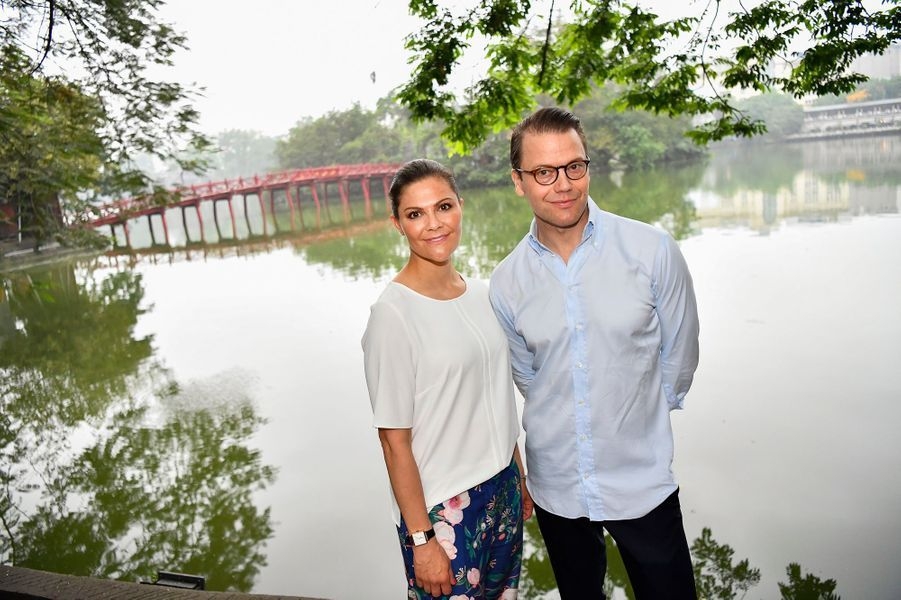 La princesse Victoria de Suède et le prince Daniel à Hanoi, le 8 mai 2019