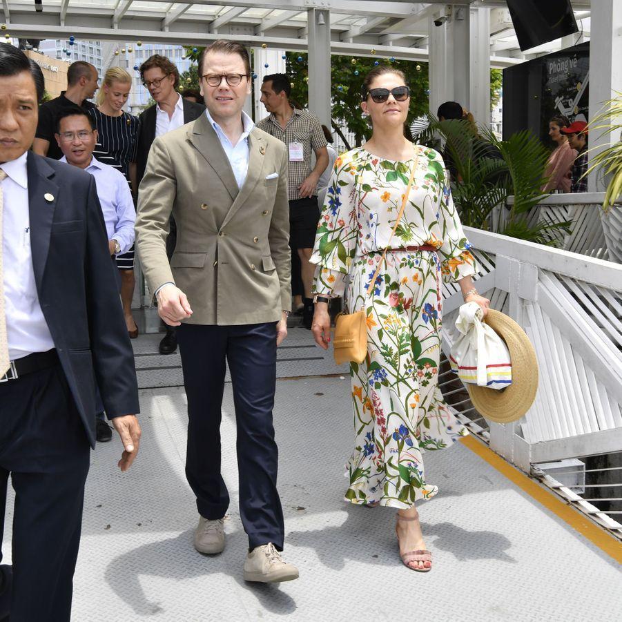 La princesse Victoria de Suède et le prince Daniel à Hô Chi Minh-Ville, le 8 mai 2019