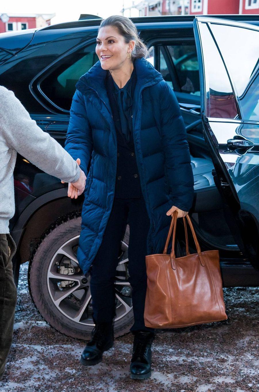 La princesse héritière Victoria de Suède à Sälen, le 12 janvier 2020