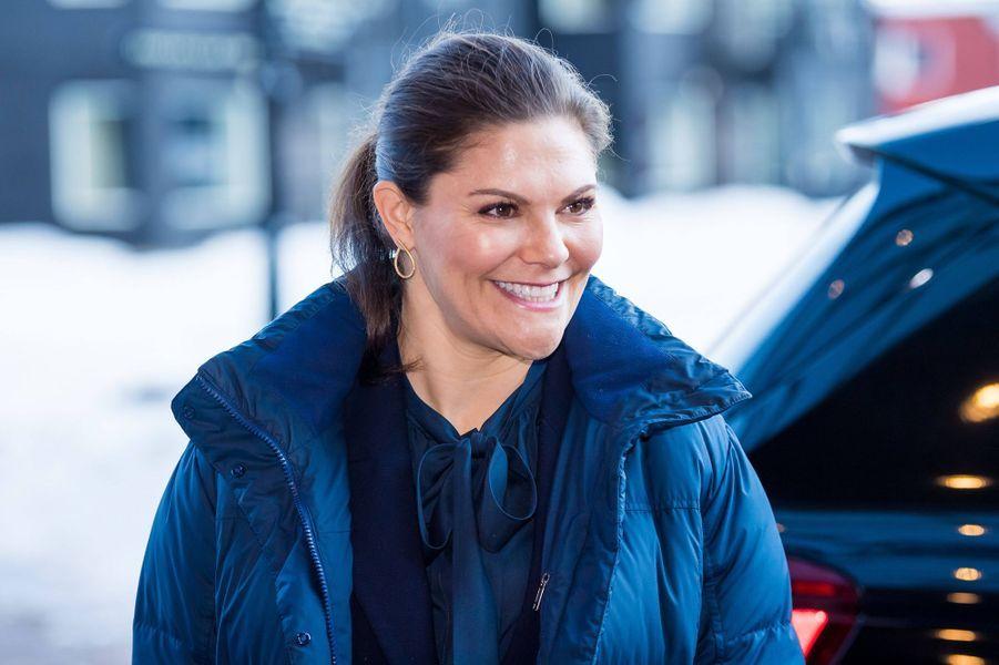 La princesse Victoria de Suède à Sälen, le 12 janvier 2020