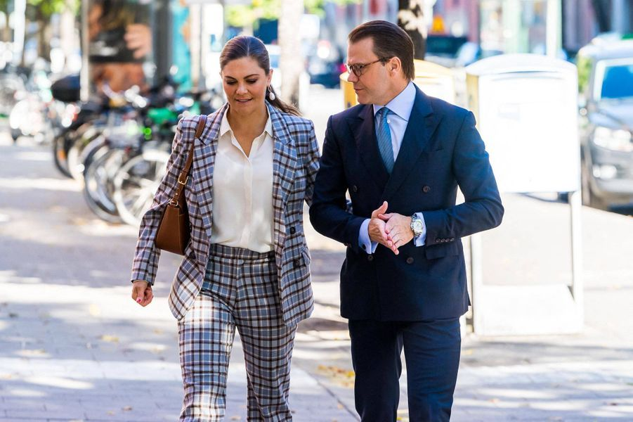 La princesse Victoria de Suède et son mari le prince Daniel à Stockholm, le 10 septembre 2020
