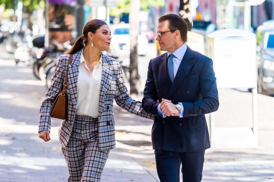 La princesse Victoria de Suède et son époux le prince Daniel à Stockholm, le 10 septembre 2020