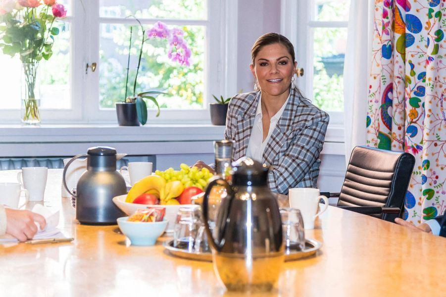 La princesse Victoria de Suède à Stockholm, le 10 septembre 2020