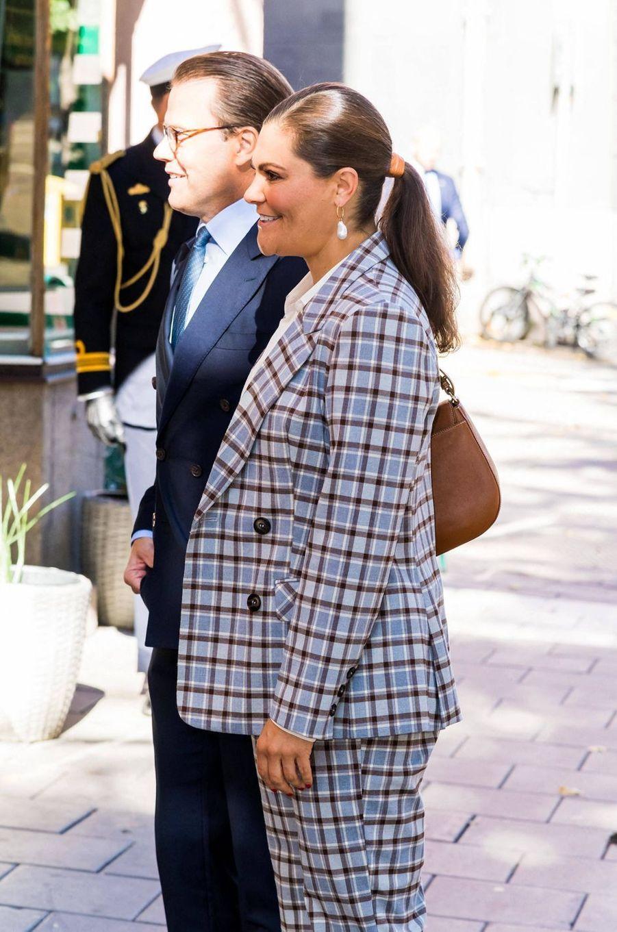 La princesse Victoria de Suède avec le prince Daniel à Stockholm, le 10 septembre 2020