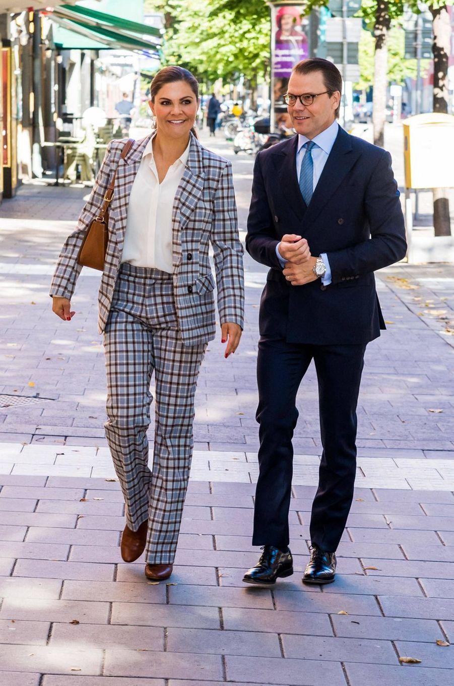La princesse Victoria de Suède et le prince Daniel à Stockholm, le 10 septembre 2020